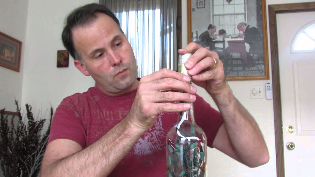 How to wire a bottle lamp kit bottle lamp making youtube solutioingenieria Gallery
