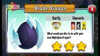Dragon City - Blade Dragon [Legendary VIP Dragon | Mini Holiday Island]