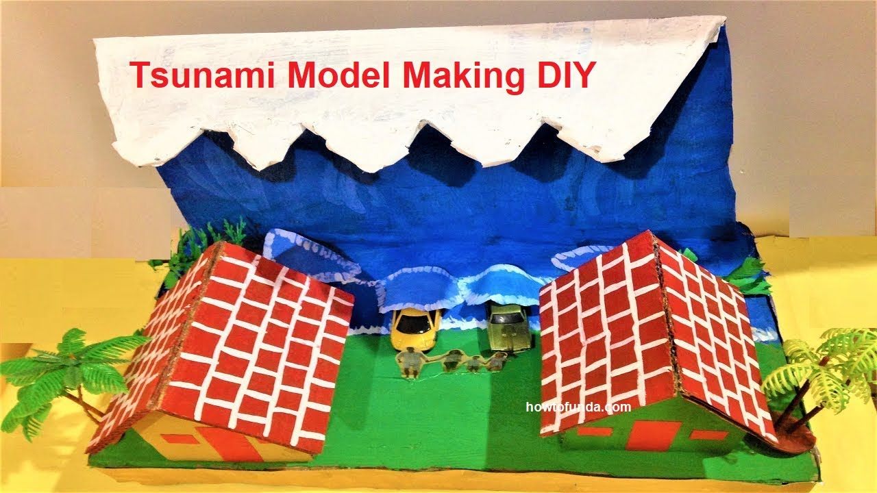 tsunami model | school science exhibition project