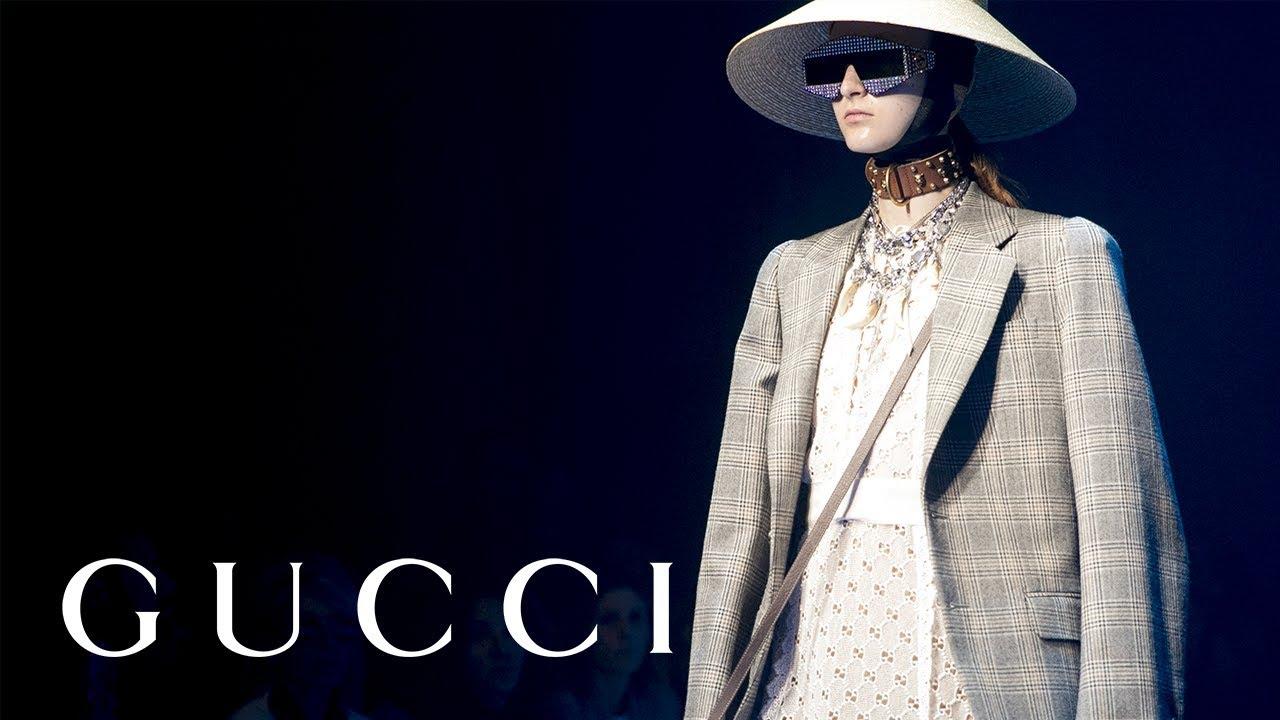 9c6e7a04fa7 Gucci Spring Summer 2018 Fashion Show: Short Edit - YouTube