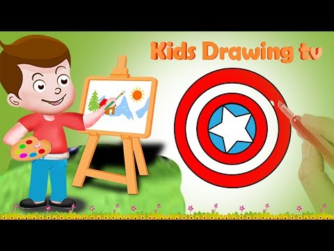 Drawing Captain America Superhero Drawing Paint And Colouring For Kids | Kids Drawing TV