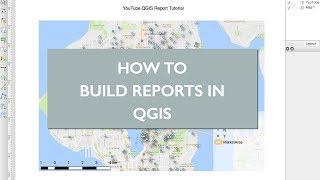 كيفية إنشاء تقرير PDF في QGIS