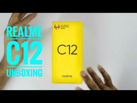 Realme c12 unboxing | power blue | 3+32GB