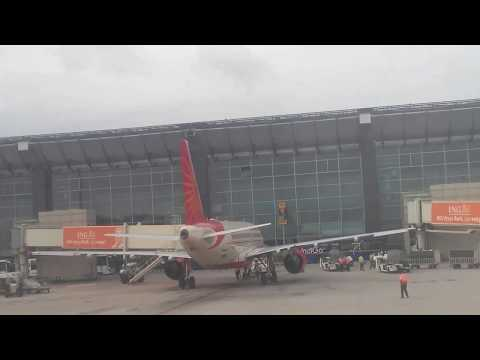 Air India 516 Flight takeoff at Bangalore Airport