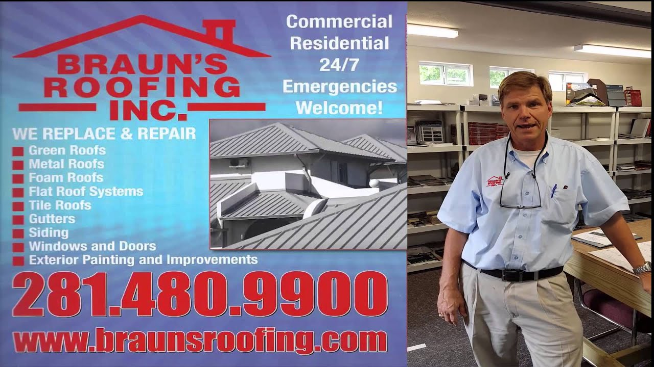 Roofing In Houston TX Roofing Companies Houston Braunu0027s Roofing  281 480 9900   YouTube