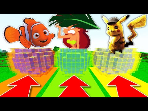 NE CHOISISSEZ PAS LE MAUVAIS AQUARIUM MINECRAFT !! Nemo Marina Détective Pikachu !