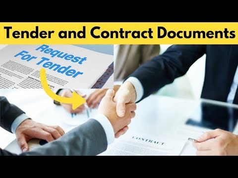 Difference Between Tender and Contract Documents in Civil Engineering.