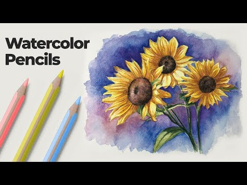 how-to-use-watercolor-pencils---techniques-and-demonstration