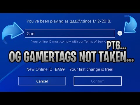OG GAMERTAGS NOT TAKEN *2019* #9 - PLAYSTATION/XBOX