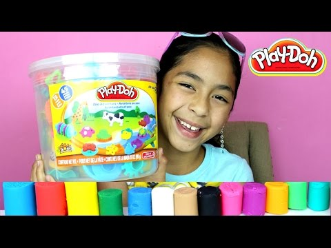 Tuesday Play Doh Huge Play Doh Bucket Adventure Zoo|B2cutecu
