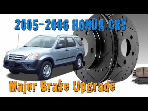 2005 2006 Honda CRV Front Brake Upgrade - Kinetic Rotors and Pads