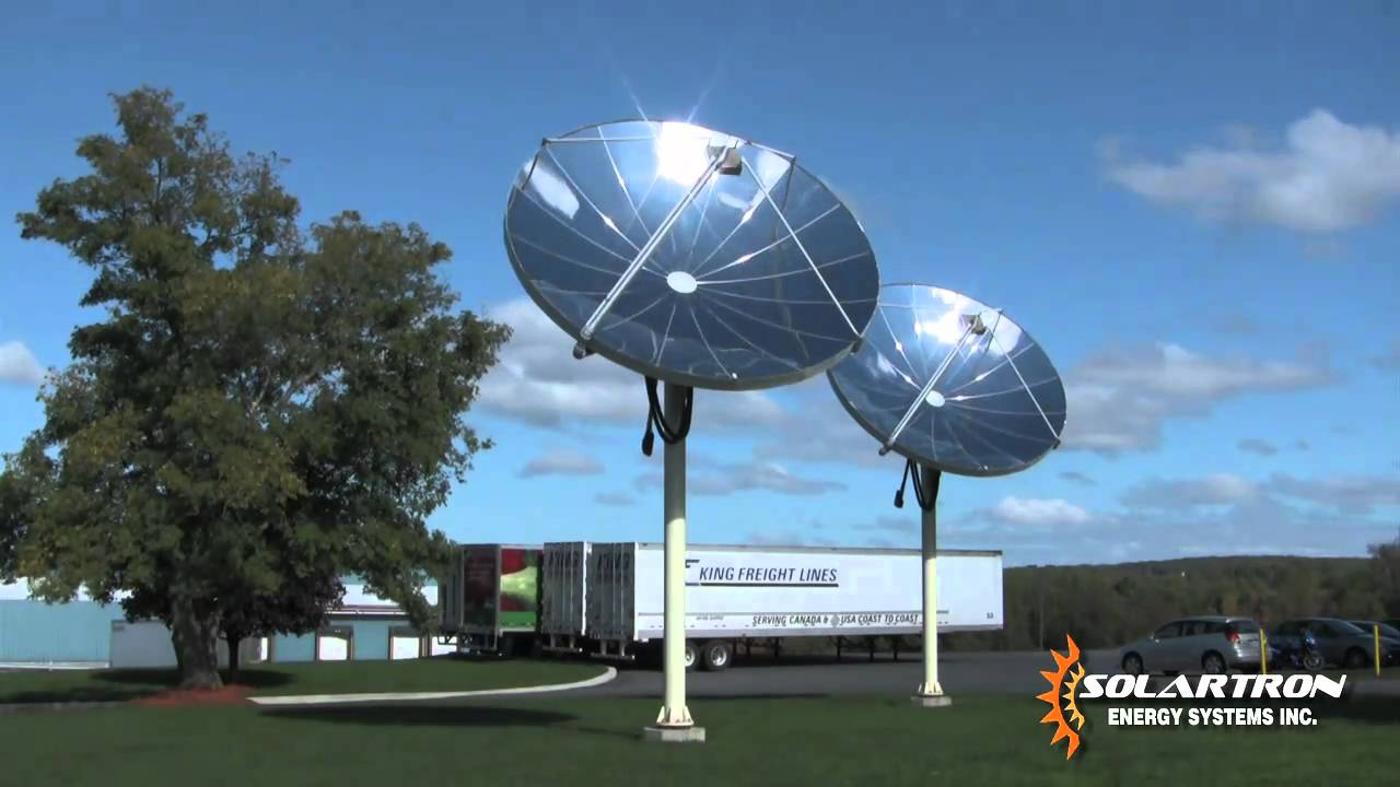 Solar Hot Water System With A Parabolic Concentrator Youtube
