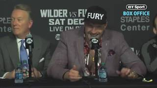 Best bits from Tyson Fury's amazing post-fight press conference | Deontay Wilder v Tyson Fury