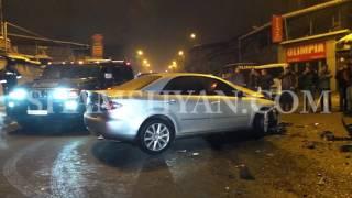 Խոշոր ու շղթայական ավտովթար Երևանում  Չարենցի փողոցում բախվել են Mazda ն, Hyundai ն և Volkswagen ը