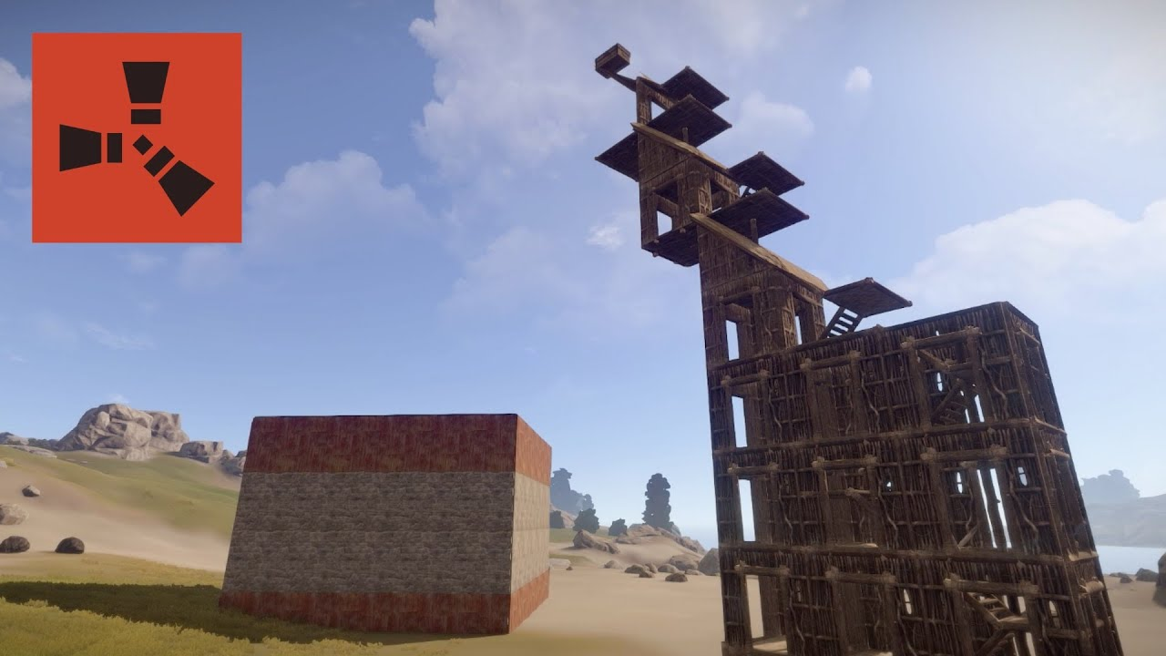 Rust Tips How To Build A Raid Tower Using Roofs Youtube