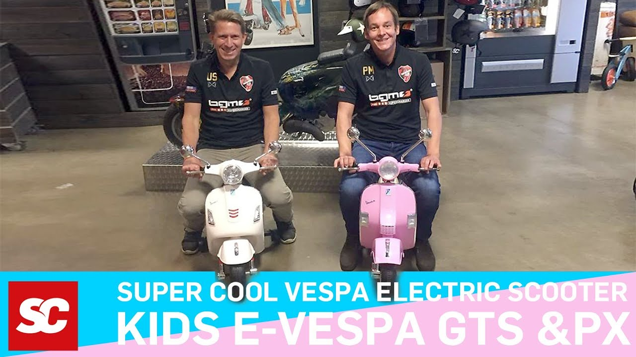 kids electro vespa scooter vespa f r kinder youtube. Black Bedroom Furniture Sets. Home Design Ideas