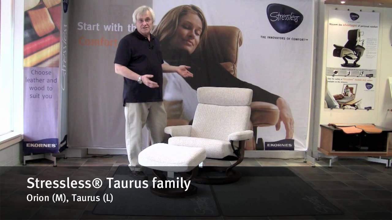 stressless taurus family by ekornes taurus and orion youtube. Black Bedroom Furniture Sets. Home Design Ideas