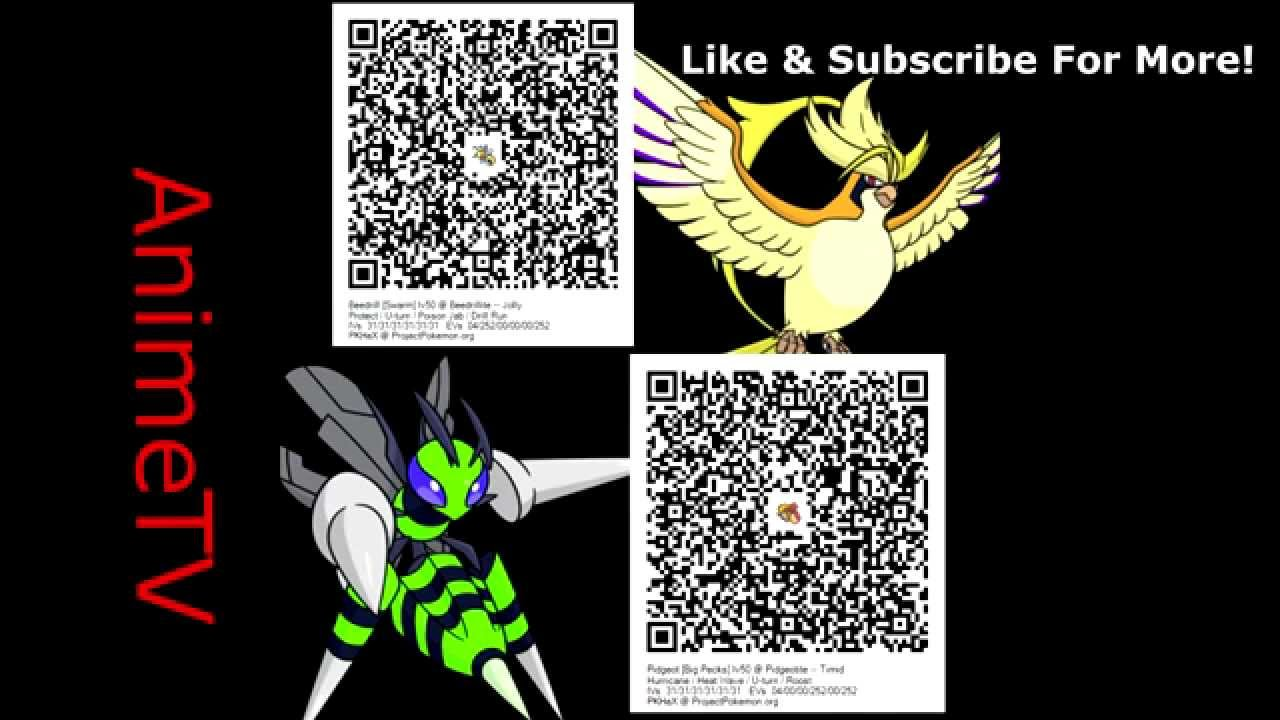 QR code: Pidgeot & Beedrill Shiny's W/ Mega Stones | Pokemon X Y / ORAS