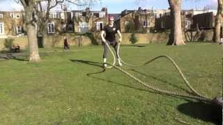 Lateral whip action with battling ropes.m4v