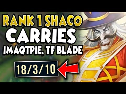 RANK 1 SHACO WORLD 1V9 CARRIES IMAQTPIE & TF BLADE (FT. SHIPTHUR) - League of Legends