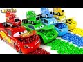Learning Color Disney Pixar Cars Lightning McQueen Mack Truck M&M's Chocolate Play For Kids Car Toys