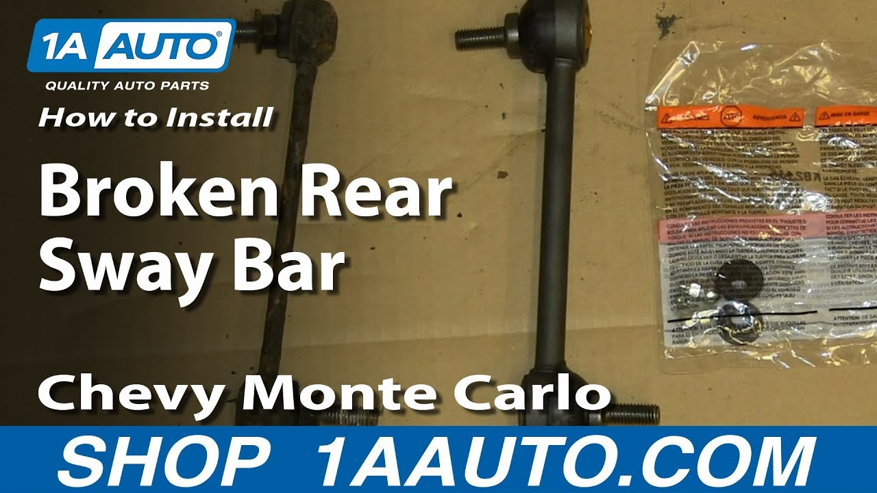How To Install Replace Broken Rear Sway Bar Link 2000 07