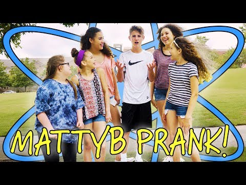 WE PRANKED MATTYBRAPS WITH WATER BALLOONS! (Sarah Grace & Haschak Sisters)