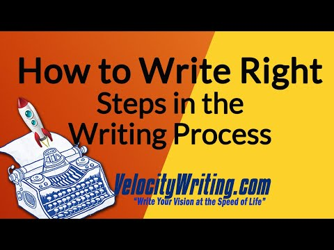 How to Write Right - Steps in the Writing Process