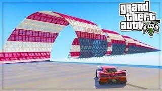 GTA 5 Mods: WORLDS LONGEST STUNT! 😜💥 (GTA 5 Mods Gameplay)