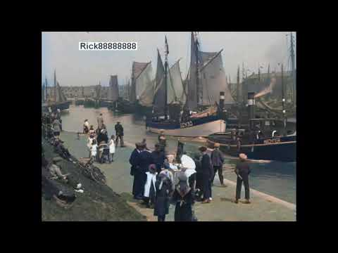 Het Scheveningse Vissersleven in 1925 in kleur! Life in the Scheveningen Fishing village in 1925
