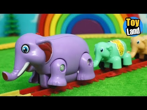 Elephant Train Toy for children Videos Kids TRAIN TRACK SET  TOYLAND