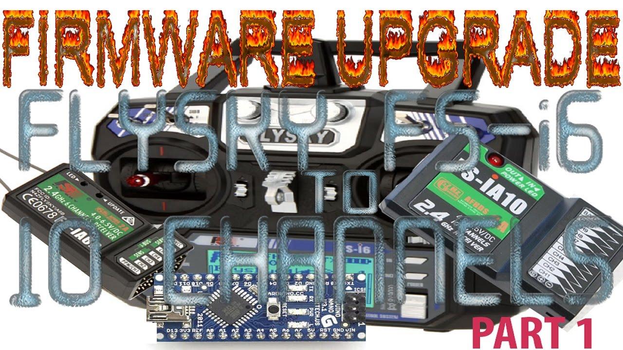 Upgrade flysky fs i6 to 10ch using arduino nano