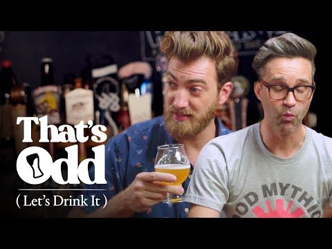 Rhett & Link Taste a Beer Made with Human Saliva | That's Odd, Let's Drink It