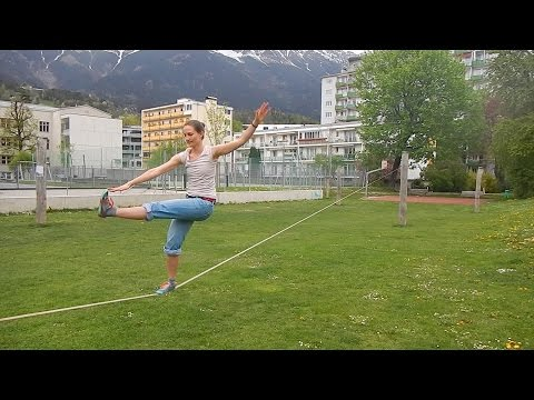 Slackline Precision Training