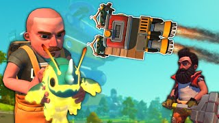 Spycakes & I Tried to Build a Rocket to Get Into the Farmbot Factory! - Scrap Mechanic Multiplayer