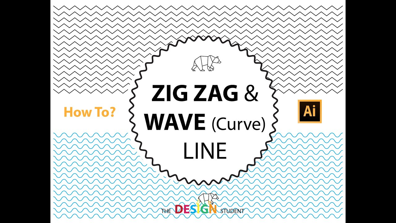 Line Texture Illustrator : How to create a zig zag wave line and texture in