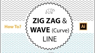 How to Create a Zig Zag \ Wave Line and texture in illustrator Cs | The Design Student