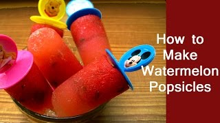 Popsicle Recipe - Easy Homemade Healthy Popsicle Recipe - How To Make Watermelon Popsicles