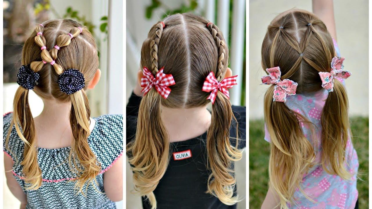 Three 5 Minute Pigtail Hairstyles Youtube