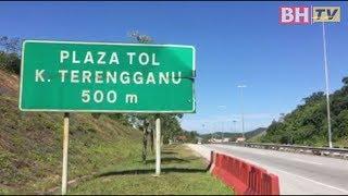 Aliran trafik mula bertambah di Plaza Tol Kuala Terengganu