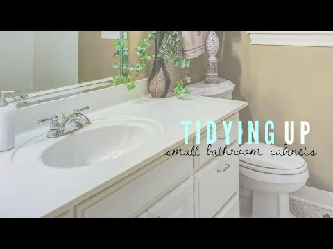 Decluttering and Organizing | Small Bathroom Sink