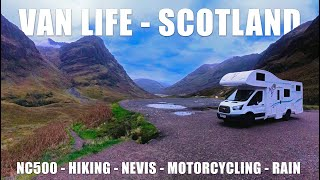 ROADTRIP - SCOTTISH HIGHLANDS. Travel by motorhome, motorbike, car or hiking on foot.