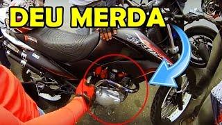BROS 150 MEXIDA FUMAÇOU NA VIAGEM, DEU PAL NO MOTOR   David do Grau