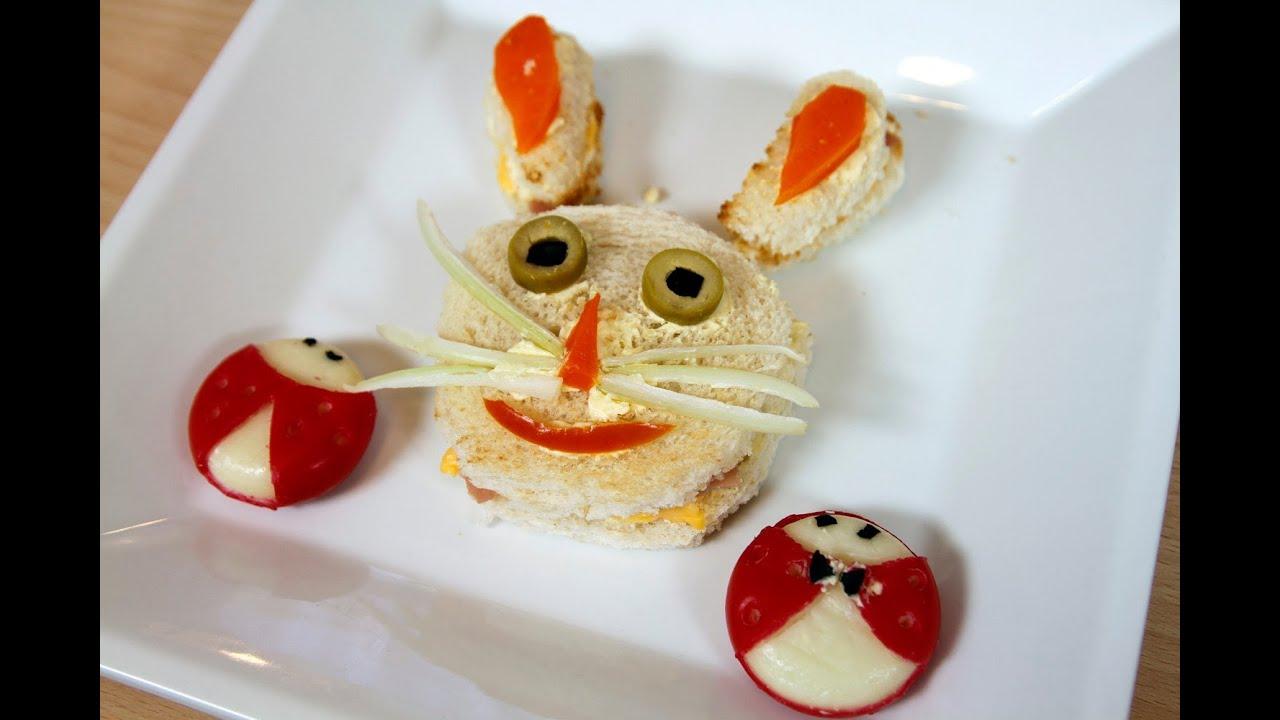 Sandwiches con decoracion divertidos para ni os y fiestas - Adornos para bebes ...