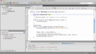 Deel 1: Bouwen van uw eerste JavaFX Applicatie gebruik van NetBeans 7.1