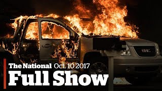 The national for tuesday october 10th: california wildfires, catalonia's declaration, go public