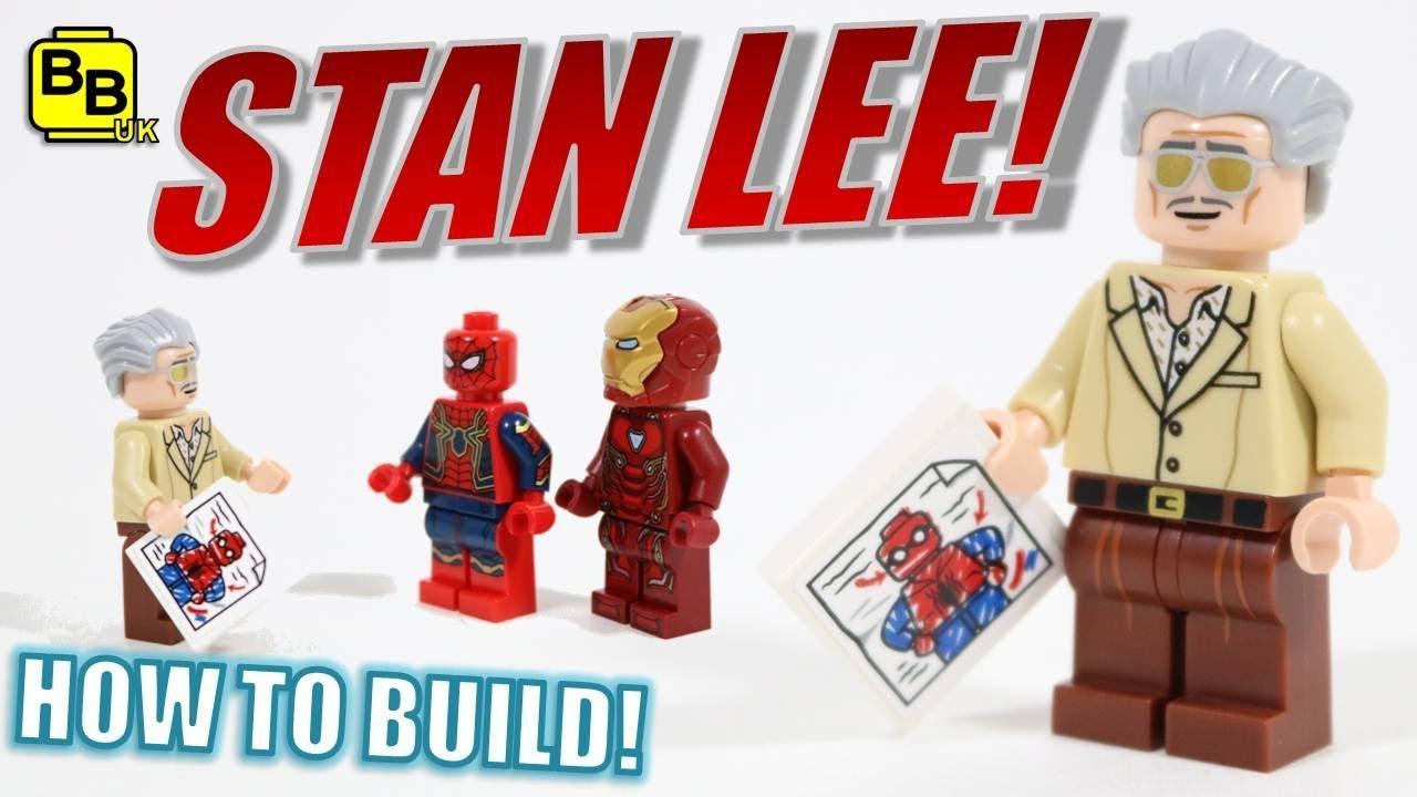 New LEGO Minifigure Marvel Avengers Spider-Man Iron Man Creator Stan Lee
