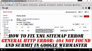 How to fix xml sitemap error and submit in google webmaster
