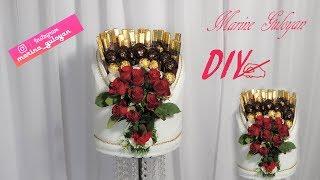 супер оформление конфет с розами на любой праздник на свадьбу обручения  Marine DIY Guloyan