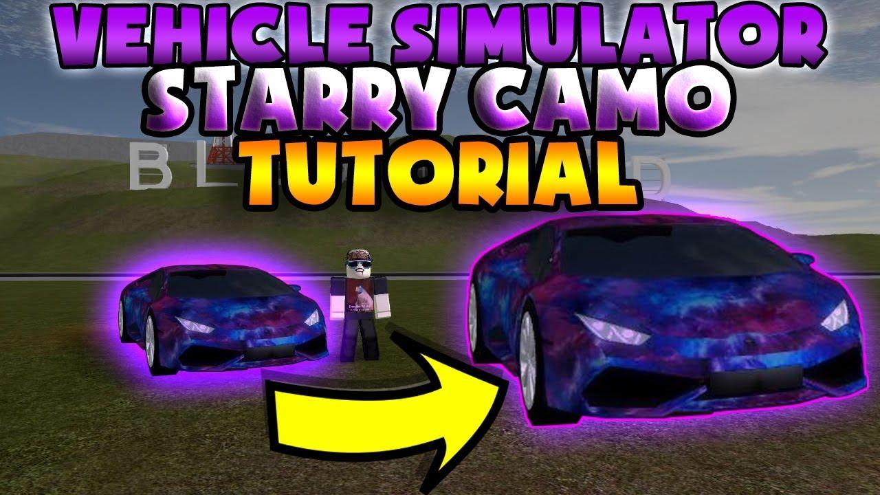 Vehicle simulator starry camo easteregg tutorial doovi for Car paint simulator